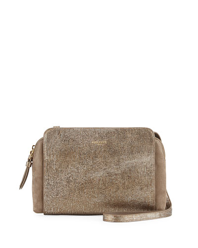 Marche Duo Mini Crossbody Bag, Gold