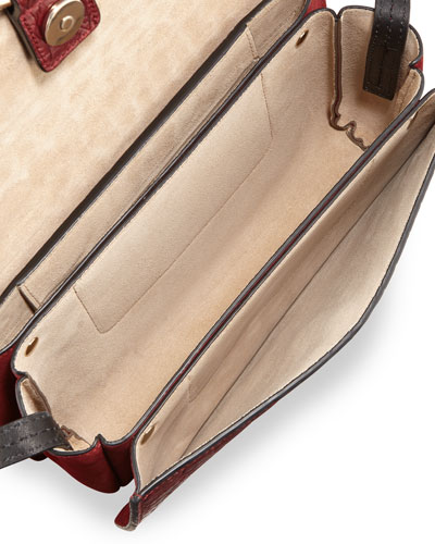 FAYE SMALL BAG IN DIAMOND EMBOSSED SMOOTH CALFSKIN