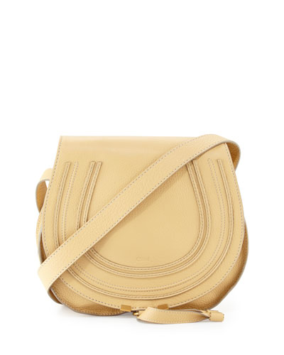 Marcie Medium Leather Crossbody Bag, Eggshell