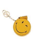 Wink Goatskin Coin Purse, Yellow