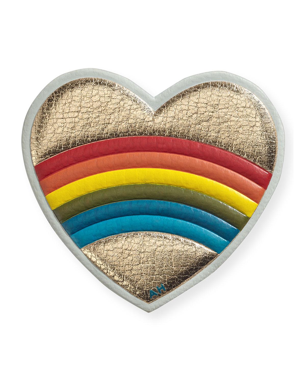Rainbow Heart Sticker for Handbag