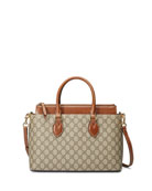 GG Supreme Tote Bag, Brown