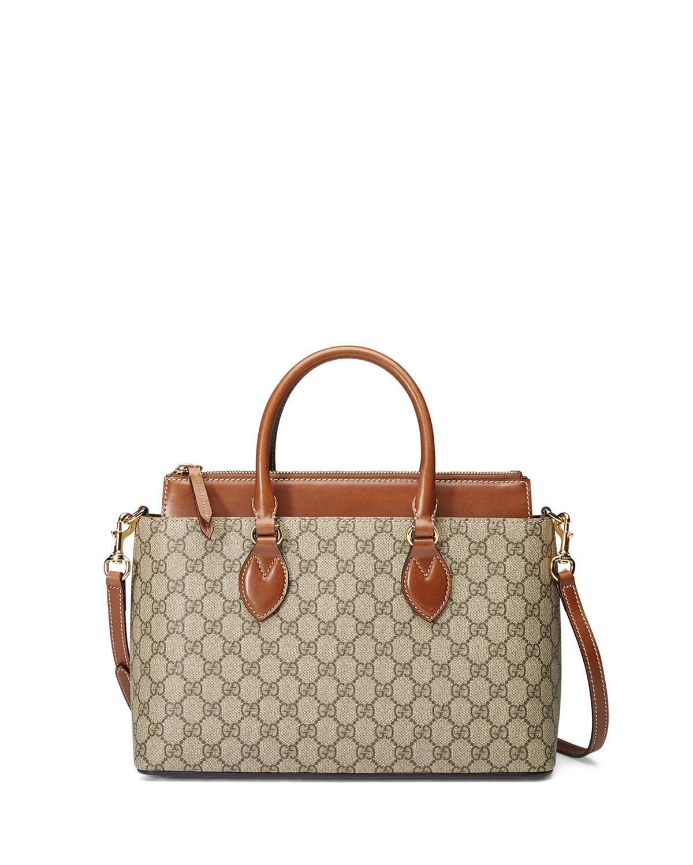 GG Supreme Tote Bag, Brown