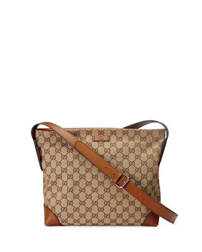 Original GG Canvas Messenger Bag, Brown