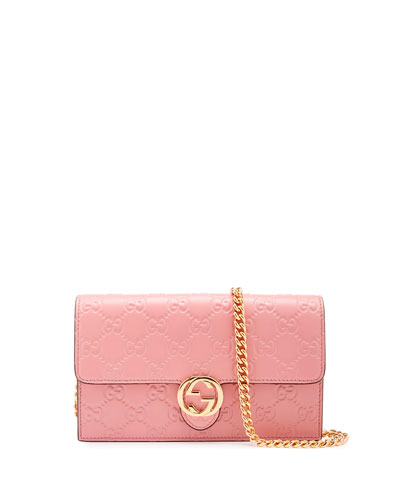Gucci Icon Guccissima Wallet on Chain, Soft Pink