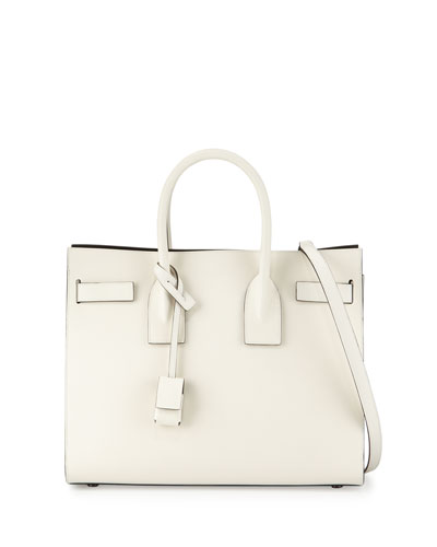 Sac de Jour Small Bicolor Satchel Bag, White/Black