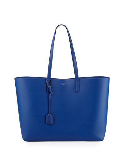 Large Shopping Tote Bag, Cobalt/Black