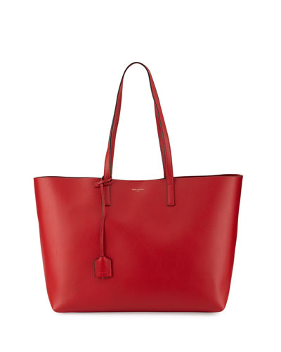 Large Shopping Tote Bag, Red/Black