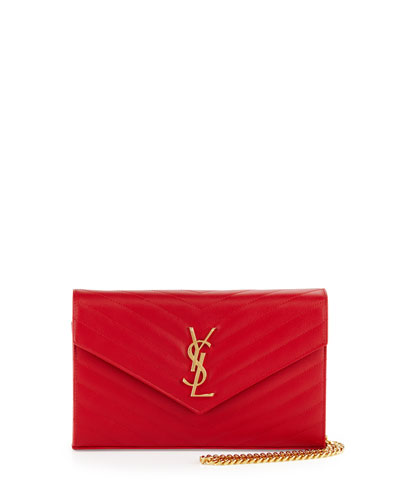 Monogram Matelasse Wallet-on-Chain, Red