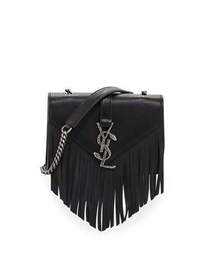 Monogram Baby Chain Serpent Crossbody Bag, Black