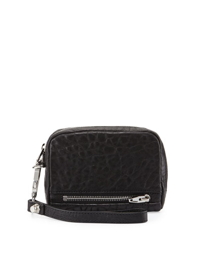 Fumo Large Zip-Around Wristlet Wallet, Black