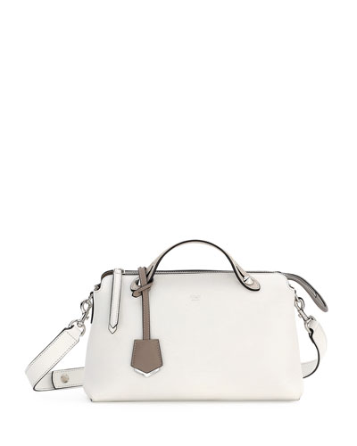 By the Way Small Bicolor Satchel Bag, White/Dove