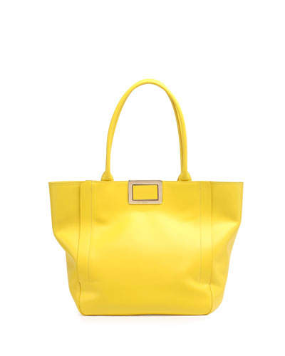 Ines Medium Shopping Bag, Yellow
