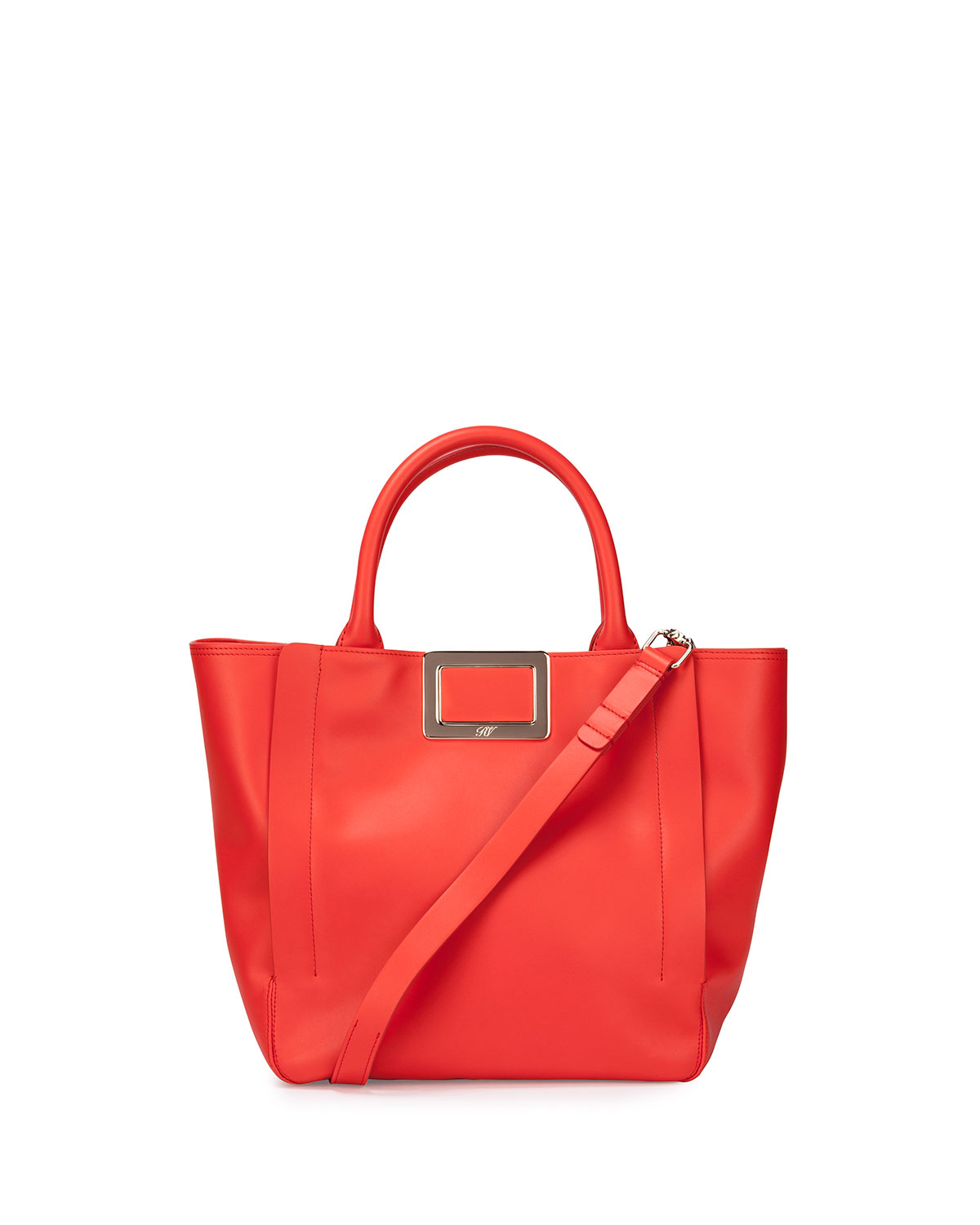 Ines Small Shopping Bag, Coral