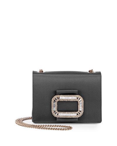 Tiffany Silk Micro-Chain Shoulder Bag, Black