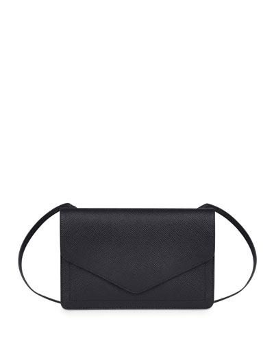 Panama Zip/Flap Crossbody Bag, Black