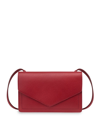 Panama Zip/Flap Crossbody Bag, Red