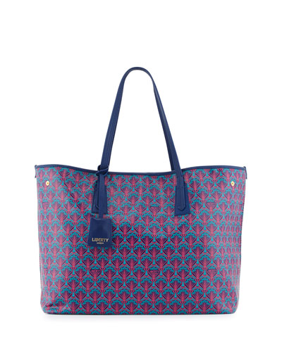 Marlborough Iphis Printed Tote Bag, Navy