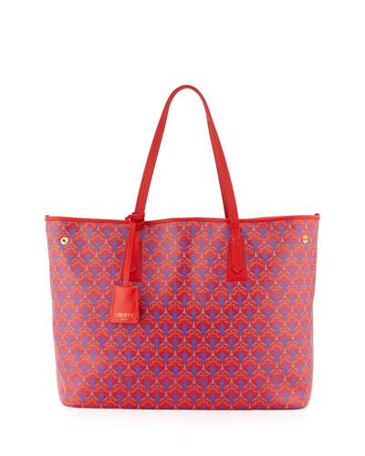 Marlborough Iphis Printed Tote Bag, Red
