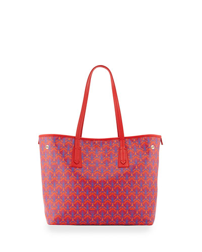 Marlborough Iphis Printed Little Tote Bag, Red