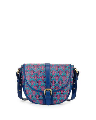 Carnaby Iphis Printed Saddle Bag, Navy
