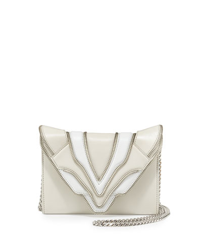 Felina Mignon Biker Shoulder Bag, White/Milk