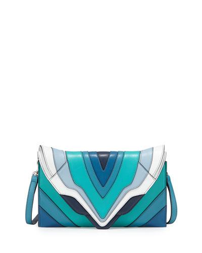 Selina Rainbow Clutch Bag, Reef/Blue/Aqua