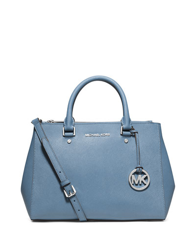 Sutton Medium Satchel Bag, Sky