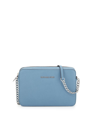 Jet Set Travel Large Crossbody Bag, Sky