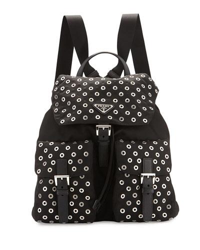 prada inspired - Leather Trim Nylon Handbag | Neiman Marcus | Leather Trim Nylon Purse