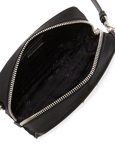 prada vela small double-pocket messenger bag