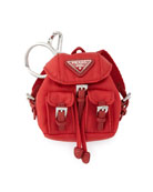 Vela Backpack-Shaped Handbag Charm/Keychain, Red (Rosso)