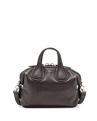 Nightingale Micro Satchel Bag, Black