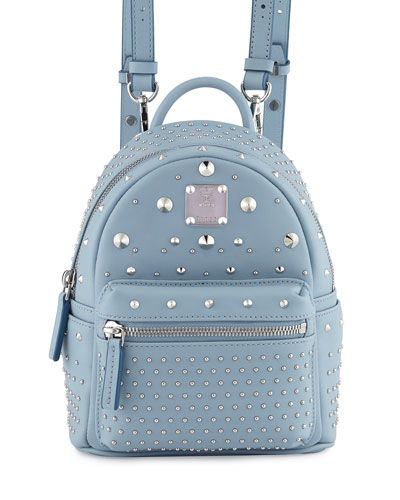 Stark Special Bebe Boo Leather Backpack, Sky Blue