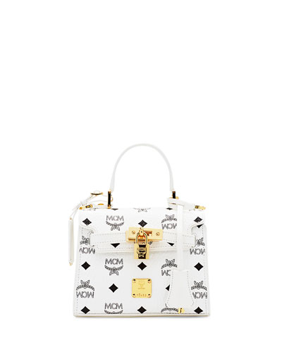 Heritage Mini Satchel Bag, White