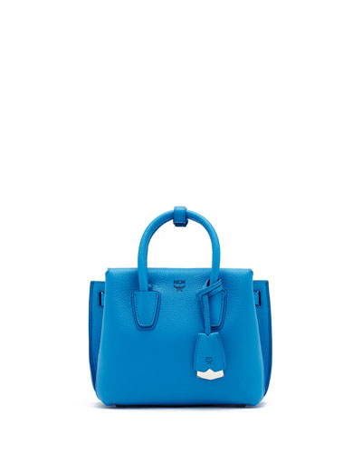 Milla Mini Tote Bag, Tile Blue