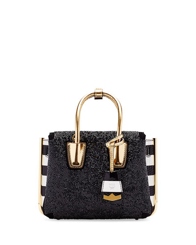 Milla Special Embellished Mini Tote Bag, Black
