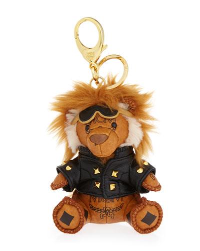 Visetos Moto Lion Key Ring/Bag Charm, Cognac