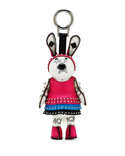 Disco Bunny Key Ring Charm, White