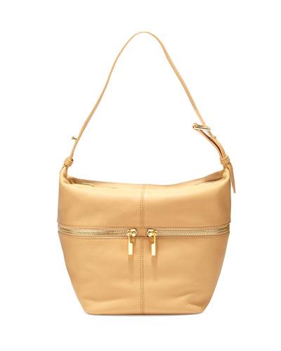 James Leather Duffel Hobo Bag, Natural