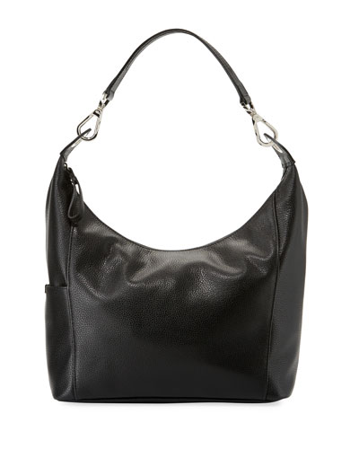 Le Foulonne Small Hobo Bag, Black