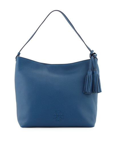 Thea Leather Hobo Bag, Tidal Wave