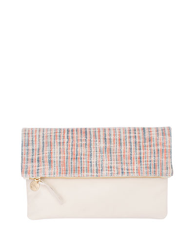 Matilde Fold-Over Clutch Bag, Multi/Cream