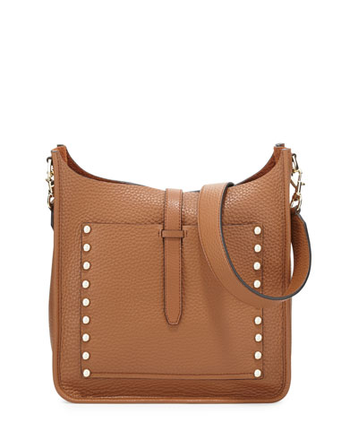 Unlined Leather Feed Bag, Almond