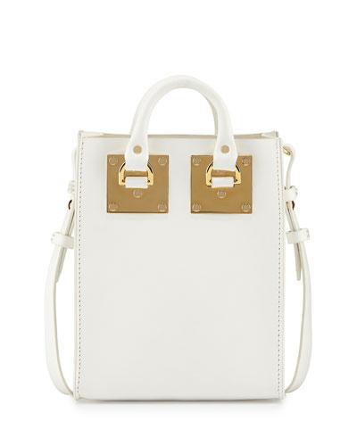 Nano Albion Leather Crossbody Bag, White