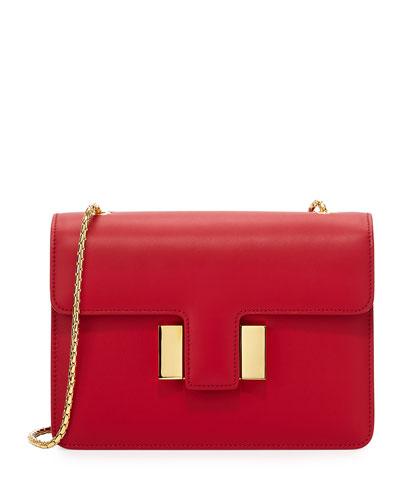 Sienna Medium T-Buckle Leather Shoulder Bag
