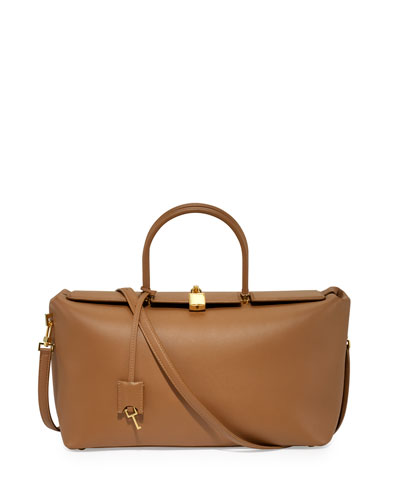 India Medium Leather Satchel Bag