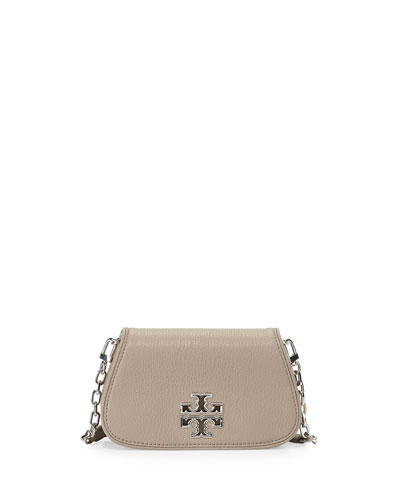 Britten Mini Crossbody Bag, French Gray