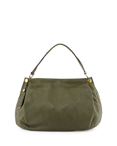 Kerry Leather Shoulder Bag, Forest Green