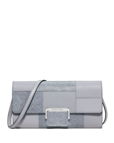 Cynthia Large Patchwork Evening Clutch Bag, Dove